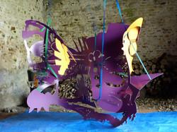 Le papillon  acrylique et feutre sur pvc, sangles, 210 x 290 x 140 cm  2012.jpg