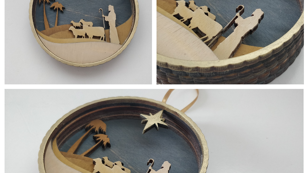Christmas Nativity - Shepherd Bauble
