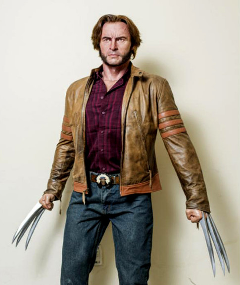 Wolverine lifesize statue - Hugh Jackman made of silicone