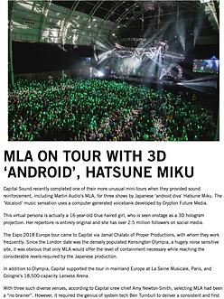 Martin Audio - Hatsune Miku