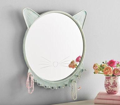 turquoise-ceramic-chic-round-kitty-mirro