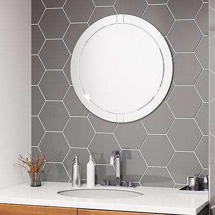 Круглое зеркало с гравировкой 01-00304