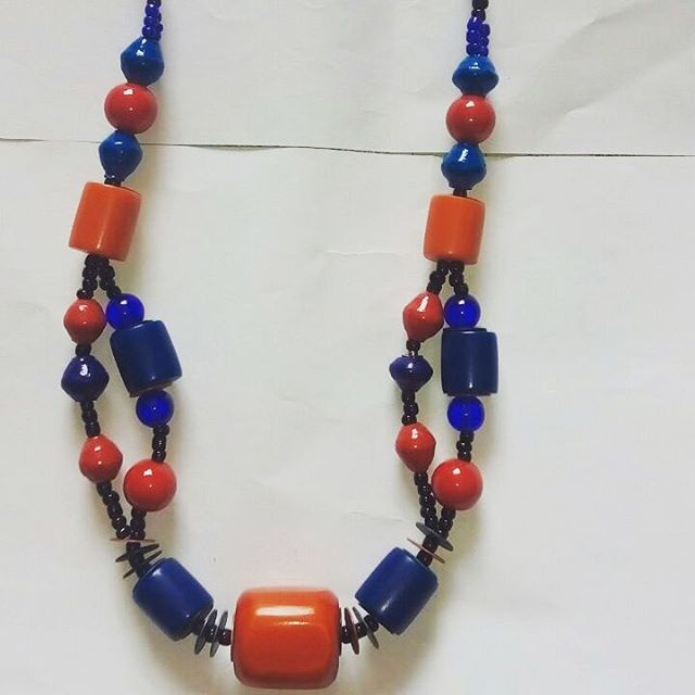 Look closely at this pretty #handmade #necklace.jpg Lovely colors.jpg