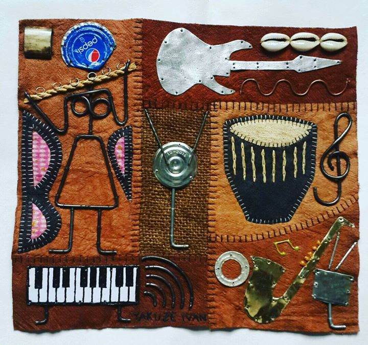 Very creative piece of art made by a very talented artist #IvanYakuze from #Uganda. He uses differen