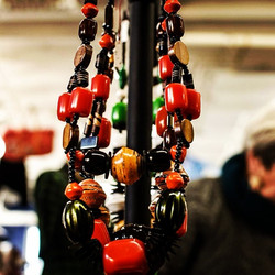 Handmade necklaces made from beads and paper mashe.jpg