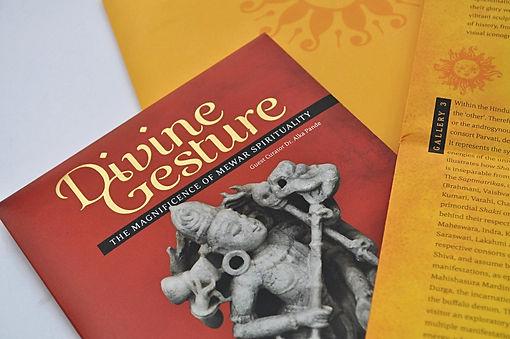 Divine Gesture book design Print collaterals Alka Pande