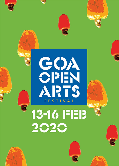 Goa Open Arts Brand name Identity Print collaterals Signage System Way Finding Web Digital Design