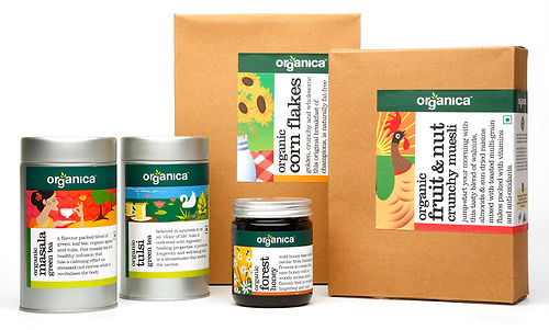 Organica Foods Brand Signature Brand Language Packaging Brochure Print Collateral