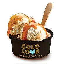Cold Love ice cream logo branding design