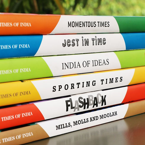Times of India 175 years branding logo book covers