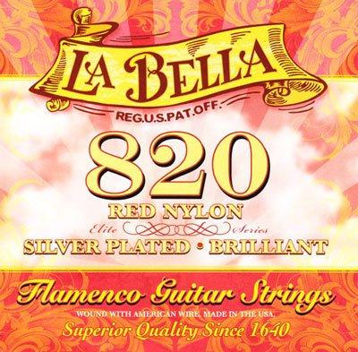 La Bella 820 Elite Flamenco Guitar Strings (Red Trebles) MT, Full Set