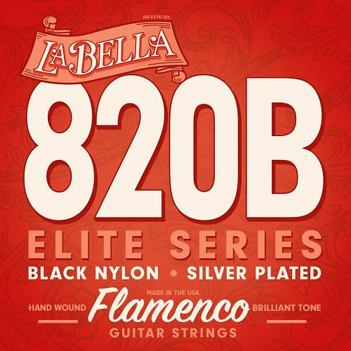 820-B ELITE – FLAMENCO, BLACK NYLON