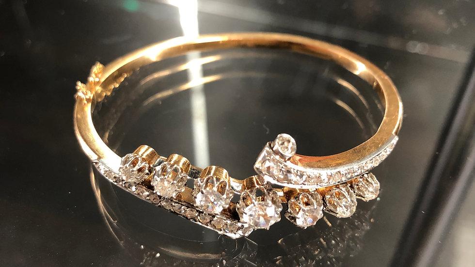 Antique Diamonds Bracelet Gold 18K Europe
