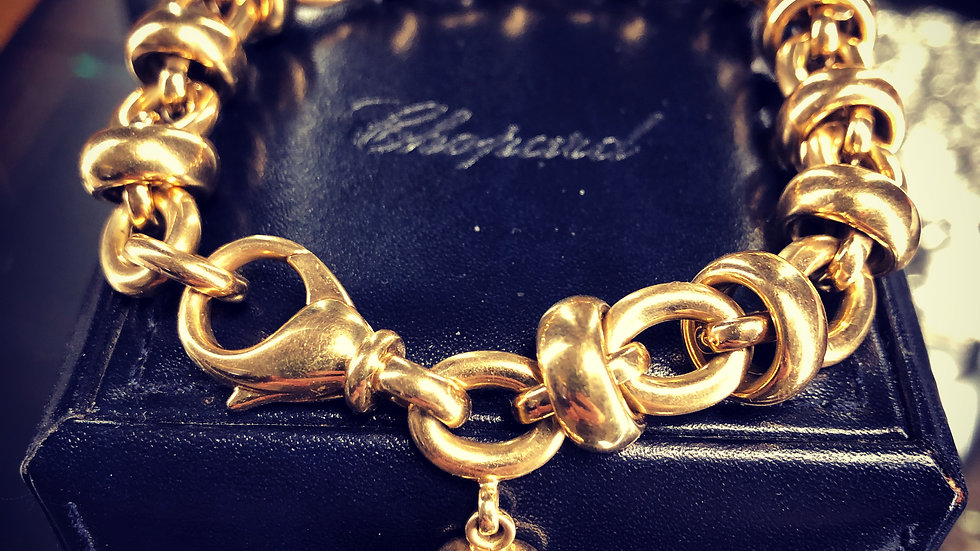 Chopard Les Chaines bracelet 18ct gold  with heart charm