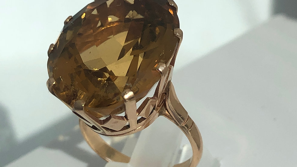 Ring Citrine 18K Gold
