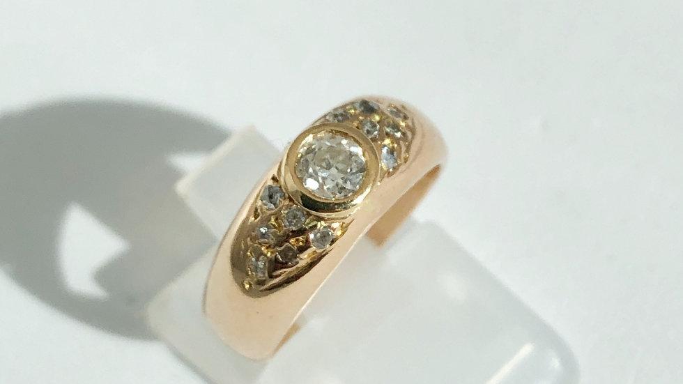 Diamond 0.3 ct  Gold ring 18K
