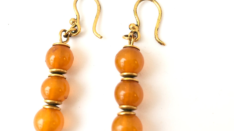 Vintage Amber earrings Soviet Riga