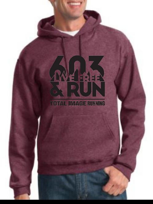 603 Live Free & Run Vintage Hoodie Sweatshirt