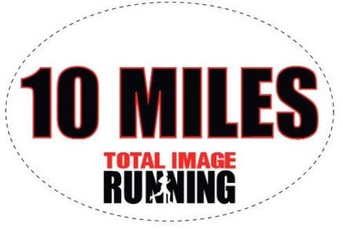 Oval 10 Miles Car Magnet