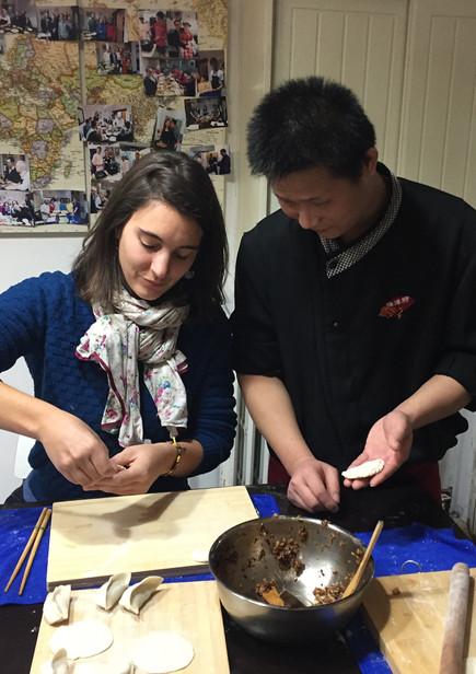 Cours de cuisine chinoise. Pékin, Tour du Monde culinaire 2016-2017.