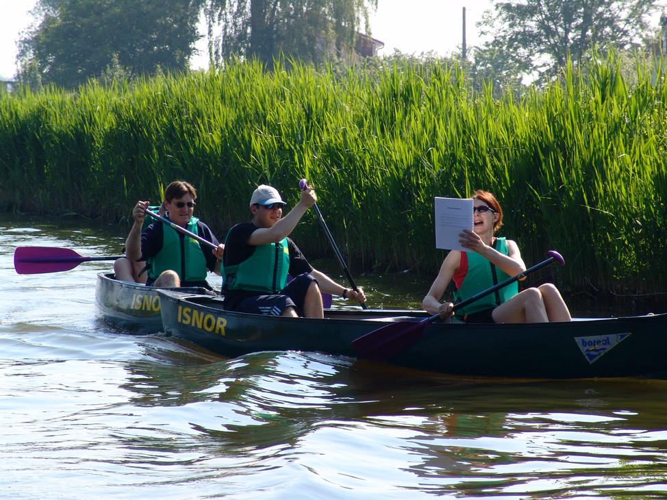 Parcours aventure en canoë