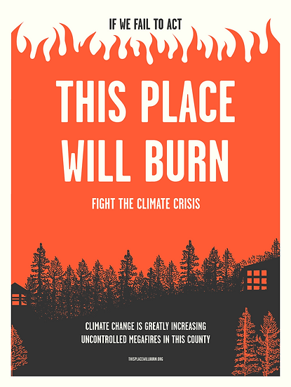 "18"" x 24"" Screenprint Poster (without ""Support Controlled Burns"")"