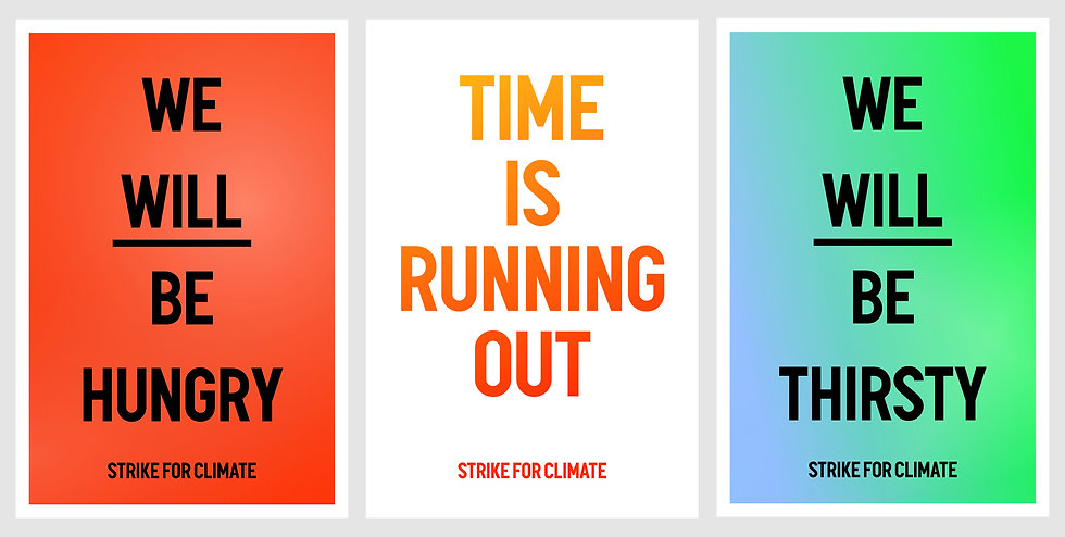 Letterpress Climate Strike Posters