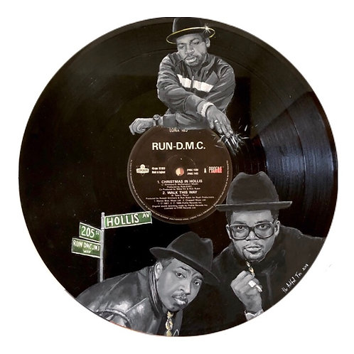 Run DMC - Christmas in Hollis - Vinyl Art