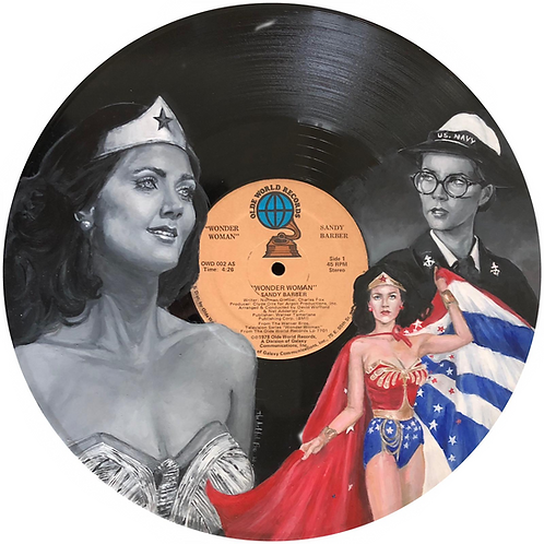 Wonder Woman aka Lynda Carter -  Vinyl Art