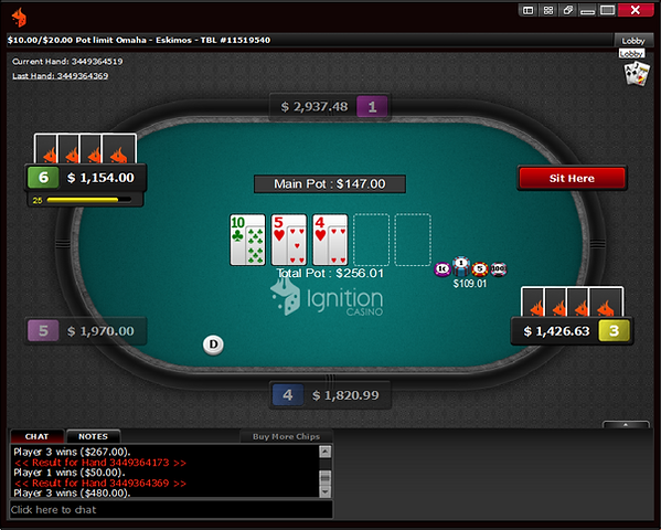 Bodog PLO screenshot