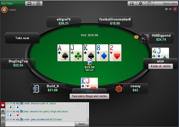 BetOnline poker screenshot
