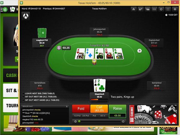 unibet poker screenshot