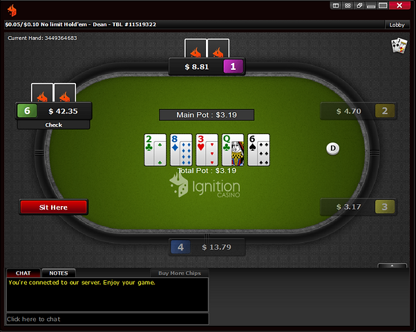Ignition Poker microstakes table