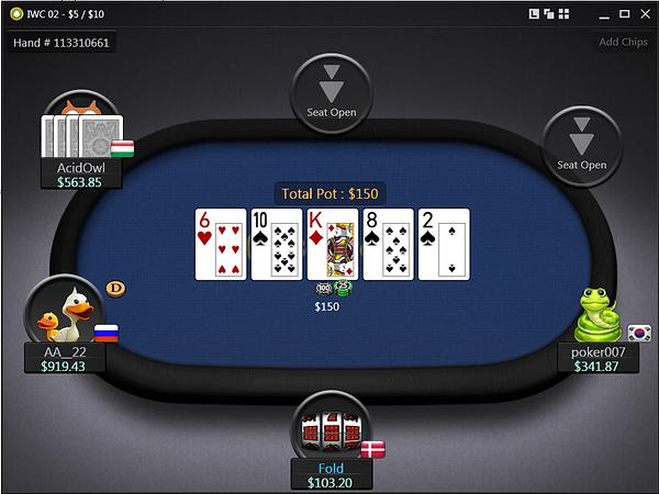 BestPoker GG Network PLO table screenshot