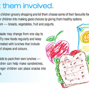 Get them started right with a healthy school lunch …