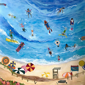Summer Fun at my Favorite Beach 36x36 30
