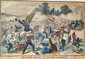 Gallant Charge of the 69th regiment at t