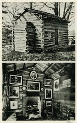 Lincoln Cabin, Forbes House postcard fro