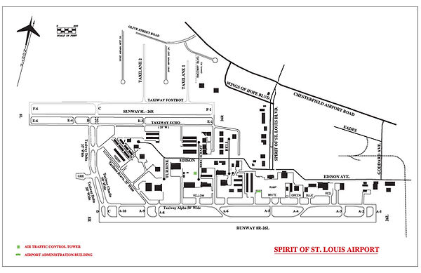 Spirit of St. Louis Airport Map