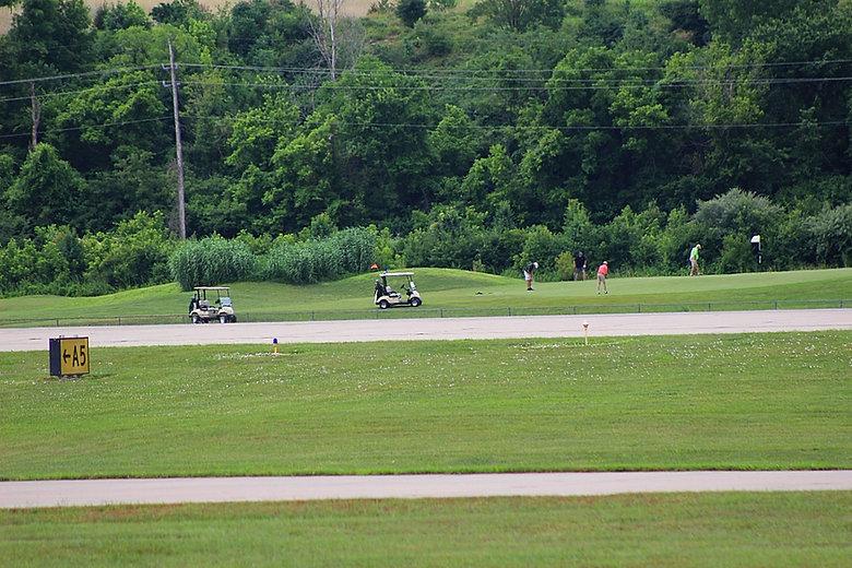 Playing golf at the Landings at Spirit