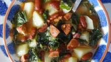 Portuguese Kale and Potato Soup (Caldo Verde)