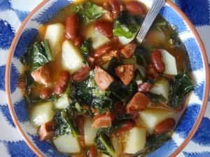 Portuguese Kale and Potato Soup (Caldo Verde)