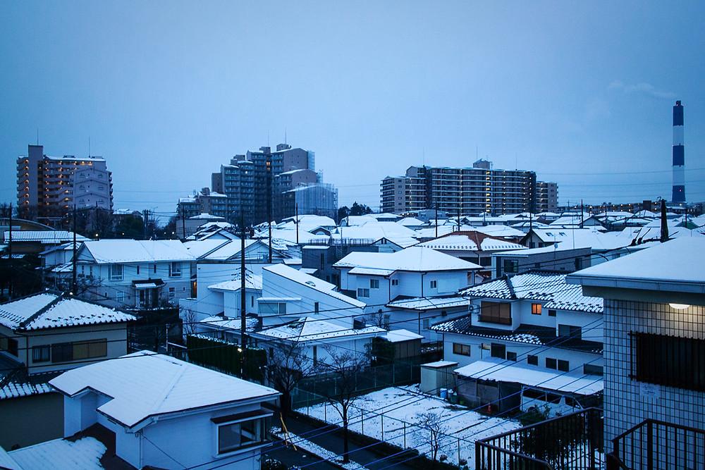 撮影 雪の夜