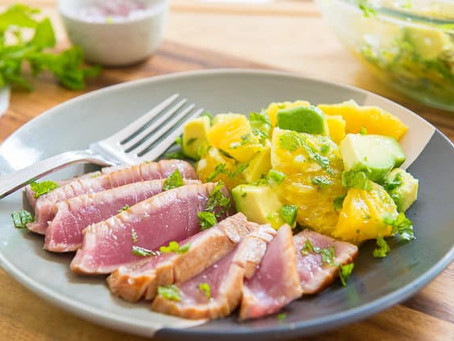 Seared Ahi Tuna with Orange Avocado Salsa