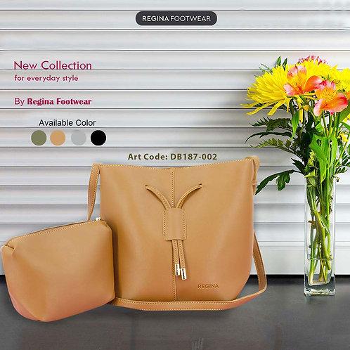 Regina Footwear - Premium Ladies Shoulder Bag Drawstring / Tas Serut DB187-002