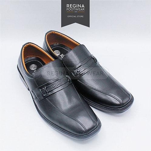 KAIZEN - Sepatu Pantofel Kulit Asli Pria AX 35 - Black Size 40/45