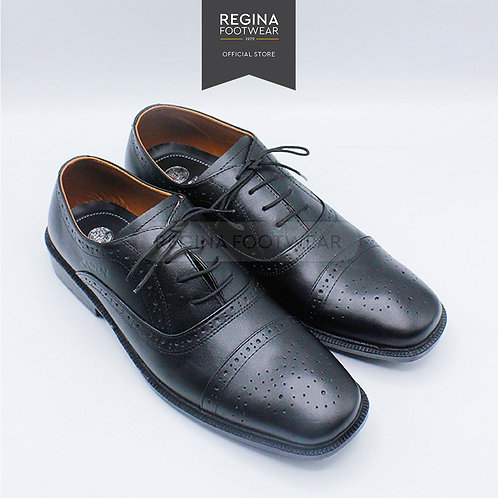 KAIZEN - Sepatu Pantofel Kulit Asli Pria AX 13 - Black Size 39-45