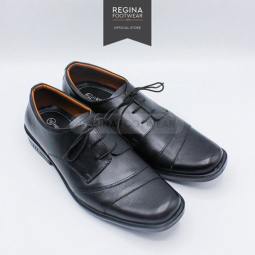 NewJustine - Sepatu Pantofel Kulit Asli Pria OX 28 - Black Size 40/45