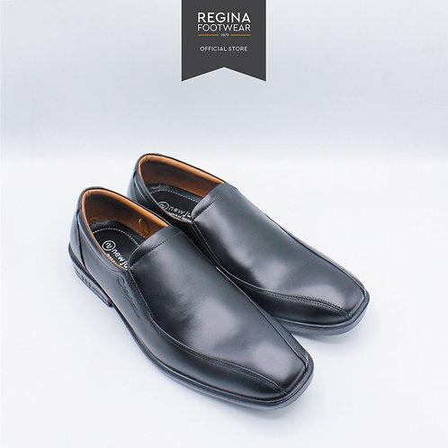 NewJustine - Sepatu Pantofel Kulit Asli Pria AX 34 - Black Size 38-43