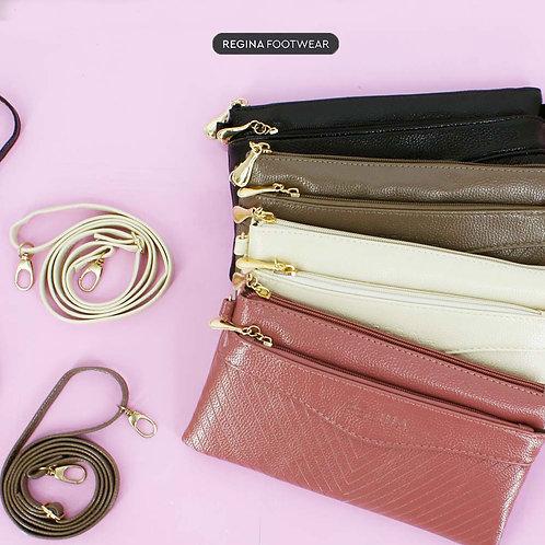 Regina Footwear - Premium Clutch Bag Tas Selempang Wanita Dompet HP DB187-706